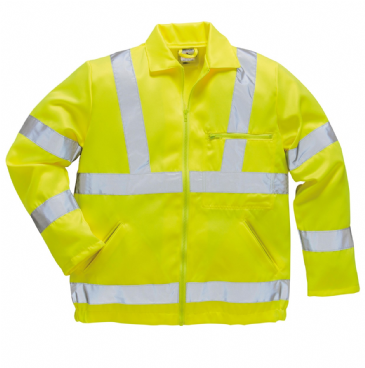 Portwest hi-vis poly-cotton jacket E040